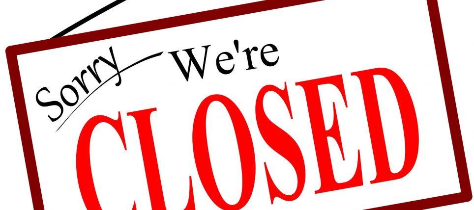 Klubben lukket 30.10.2018